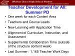 teacher development for all summer pd