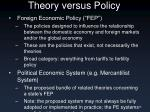 theory versus policy