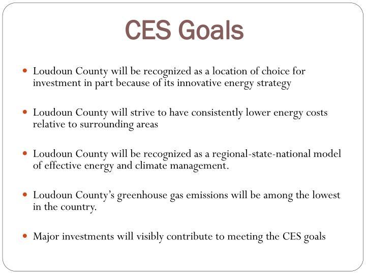 CES Goals
