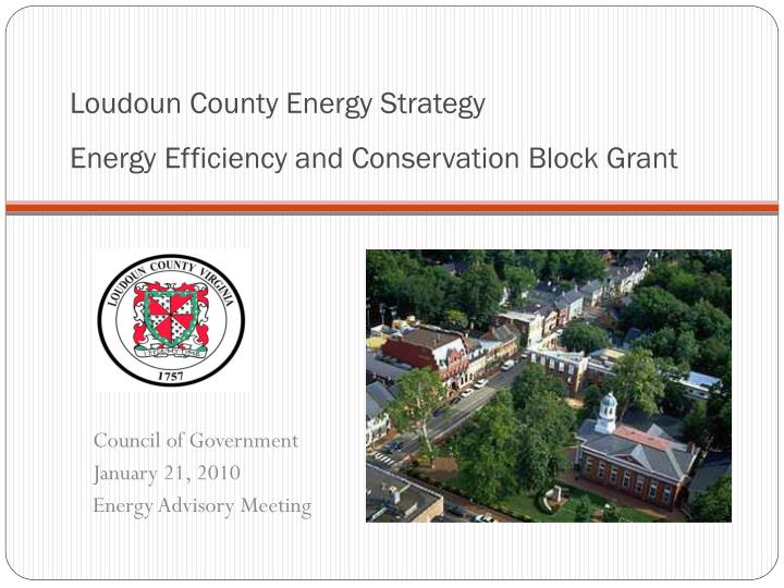 loudoun county energy strategy energy efficiency and conservation block grant n.