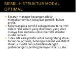 memilih struktur modal optimal1