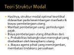 teori struktur modal1
