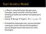teori struktur modal2