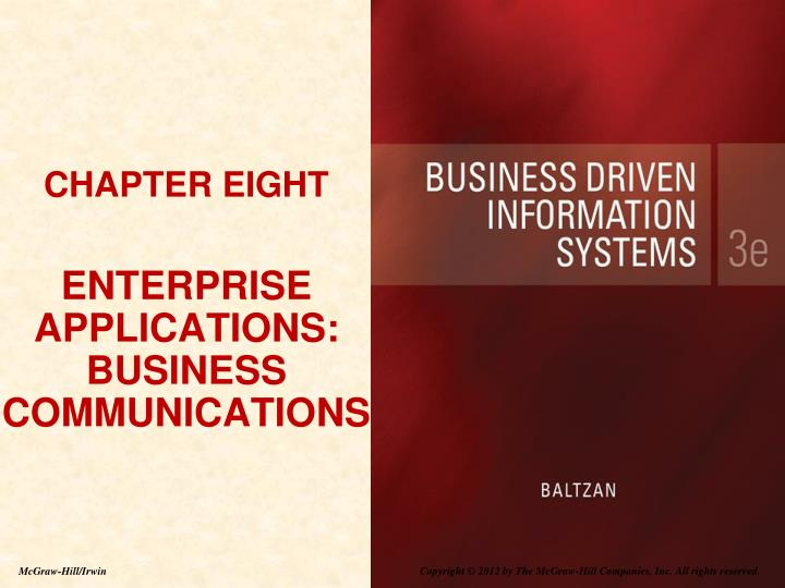chapter eight enterprise applications business communications n.