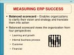 measuring erp success