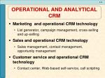 operational and analytical crm2