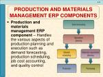 production and materials management erp components