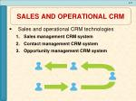 sales and operational crm1