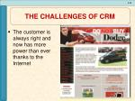 the challenges of crm