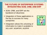 the future of enterprise systems integrating scm crm and erp