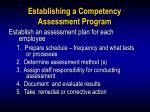 establishing a competency assessment program