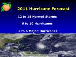 2011 hurricane forecast