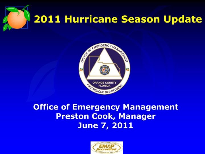 2011 hurricane season update n.