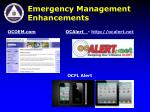 emergency management enhancements
