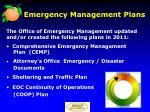 emergency management plans