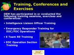 training conferences and exercises