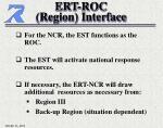 ert roc region interface