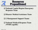 resources prepositioned