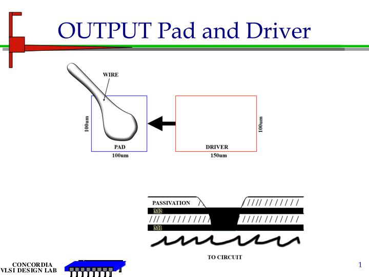 output pad and driver n.