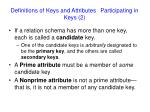 definitions of keys and attributes participating in keys 2