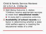 child family service reviews 42 u s c a 1320a 2a