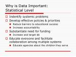 why is data important statistical level
