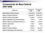 composici n de masa salarial 2007 2008