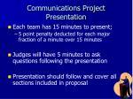 communications project presentation