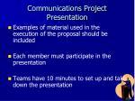 communications project presentation1
