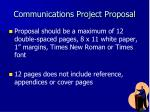 communications project proposal1