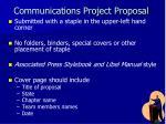 communications project proposal2