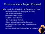 communications project proposal3