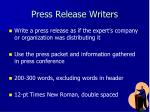 press release writers