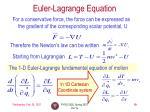 euler lagrange equation