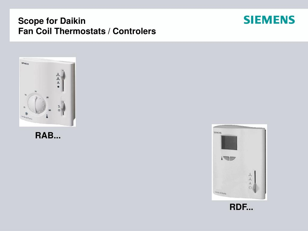 Ppt Scope For Daikin Fan Coil Thermostats Controlers Powerpoint Changeover Switch Wiring Diagram N