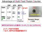 advantage of m ulti p ixel p hoton c ounter