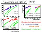 noise rate v s bias v 20