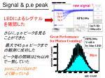 signal p e peak