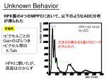 unknown behavior