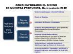 como enfocamos el dise o de nuestra propuesta convocatoria 2012