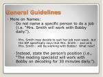 general guidelines2