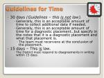 guidelines for time