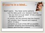 if you re in a bind
