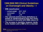 1998 2000 nih clinical guidelines on overweight and obesity 1