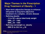 major themes in the prescription drug treatment of obesity 1