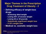 major themes in the prescription drug treatment of obesity 2