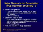 major themes in the prescription drug treatment of obesity 3