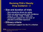 revising fda s obesity drug guidance 2