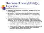 overview of new 408 b 2 regulation6