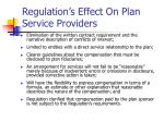 regulation s effect on plan service providers